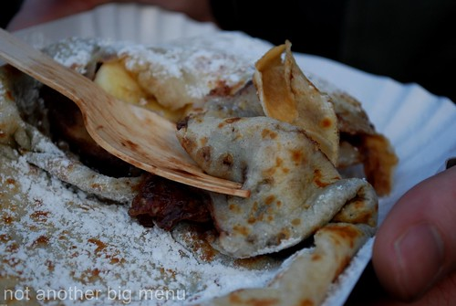 Manchester Christmas market - nutella and banana pancake