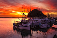 Morro Bay Sunset - Harbor View photo by howardignatius