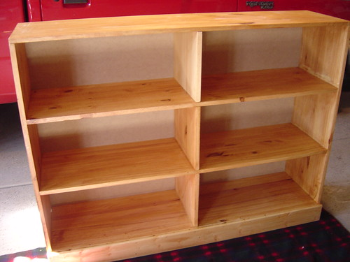 The finished bookshelf