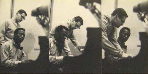 Miles Davis y Bill Evans al piano, durante las sesiones de grabación