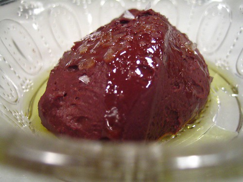 Catalan chocolate mousse with arbequina olive oil and sea salt