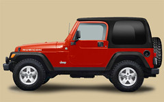 Impact Orange Jeep Wrangler