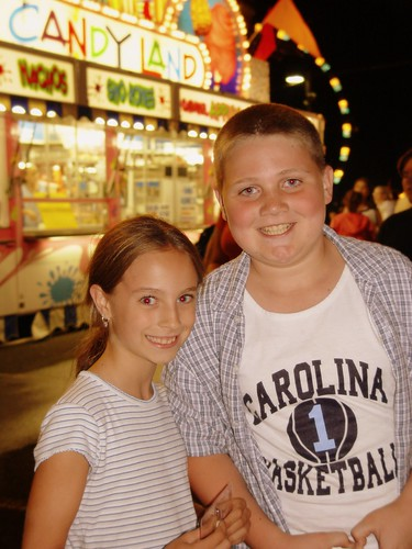 Cousins at the fair