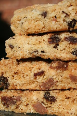 Stacked Home-made Flapjacks