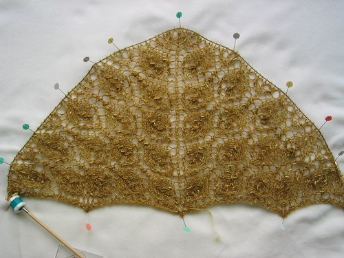 Flower Basket Shawl, volta 57
