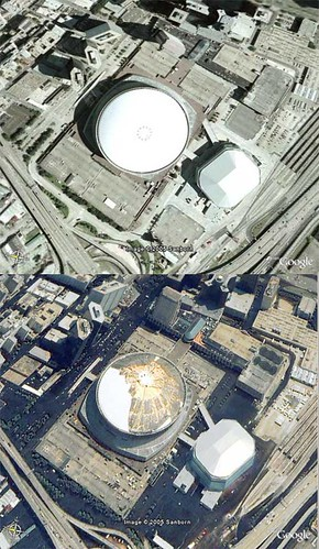 Superdome- Before/After - Google Earth Overlay