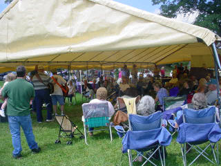 Happy Crowd at the Chinquapin Festival