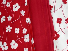 Red tea towels