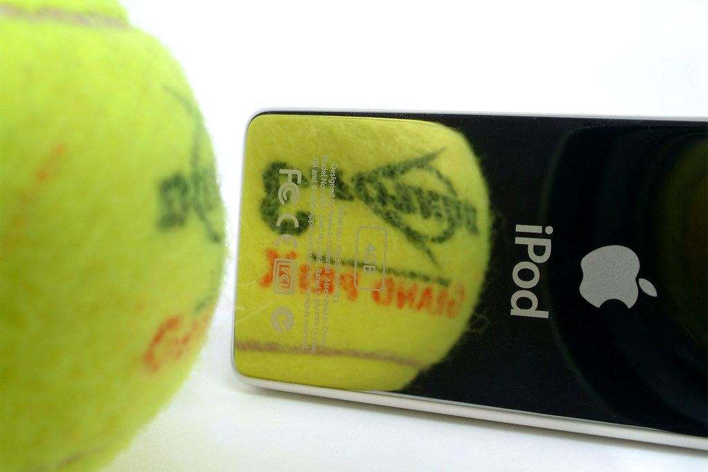 ipod nano tennis (like mini tennis, but smaller!)