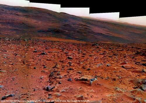Spirit Sol 592-597 Inner Basin Stereo Imaging Pan 2