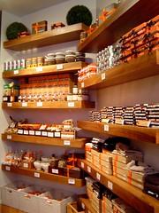 shelves of chocs