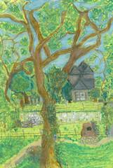 lauren's farm in pastels