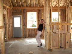developing kitchen/breakfast nook with missy practicing second hollywood pose