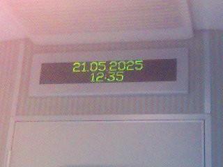 Datumsanzeige in der S-Bahn
