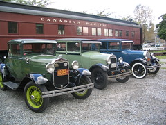 Model A's in Front of the Vensota