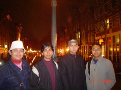 Suasana Malam di Red Light District, Amsterdam, Netherlands