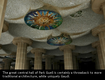 Park Guell central hall