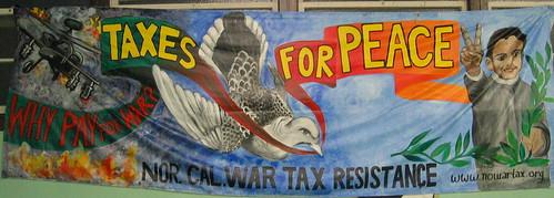 War tax resistance banner