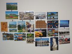 parede de postais