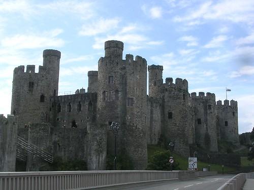 Le Chateau de Conwy vu du pont