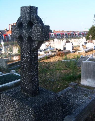 Tube and Celtic Cross in St Patrick's Roman Catholic Cemetery