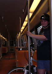 Me on the Metro with my bike