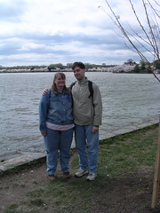 Me and Andrew at the cherry blossom festival