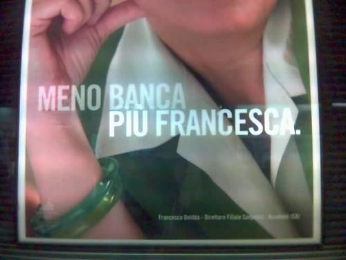 Meno banca più Francesca