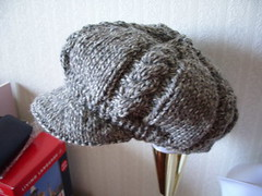 cabled newsboy cap