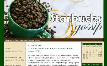 Jim Romenesko's Starbuck blog