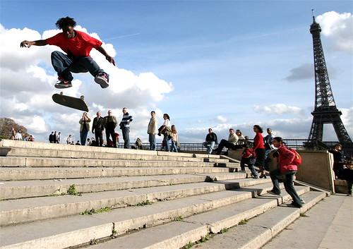 skater au trocadero