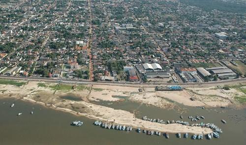 Vista área de Santarém (PA)