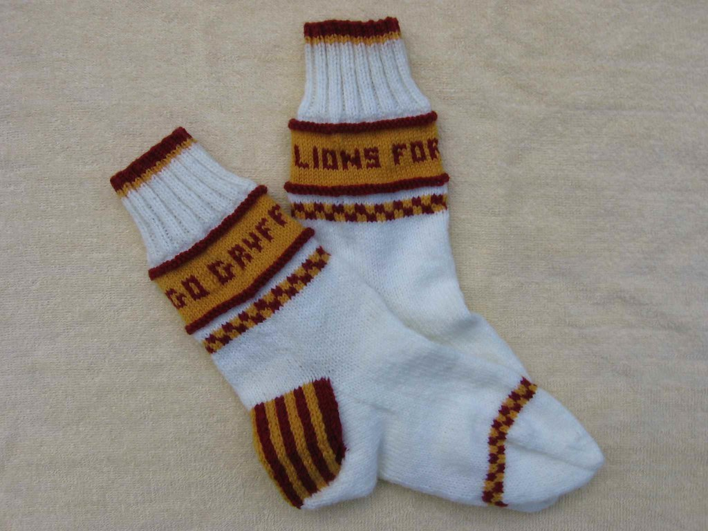 Gryffindor team socks