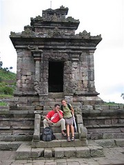 with Alicia in Gedong Songo Temple