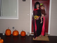 Scary Halloween Mama and L'il Helper