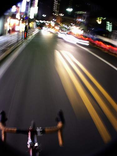 bike by shooting at night