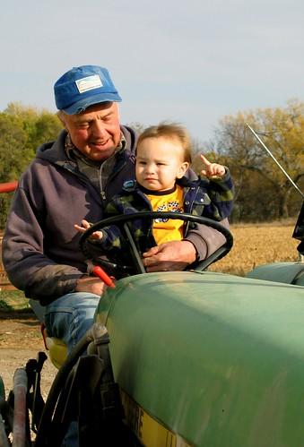 On Tractor w/ Grandpa II