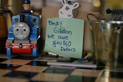 becky gibson we owe you $10 dollars