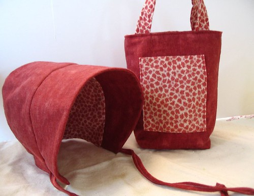 bonnet and matching bag