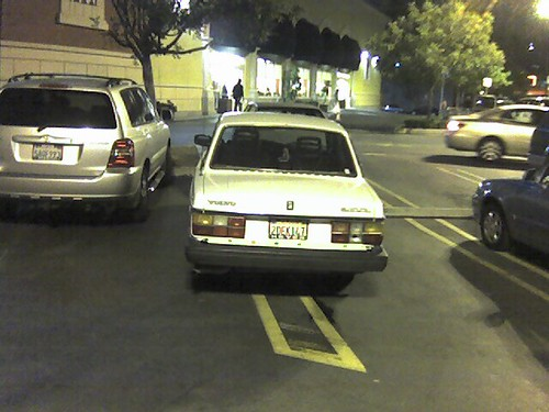 nice parking retard