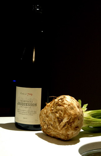 champange and a celeriac