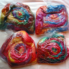 Winderwood Farms handdyed roving - in bags
