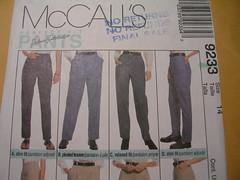 1 Pants pattern