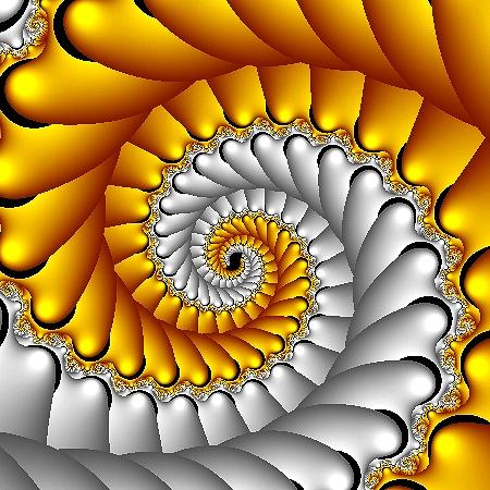 Silver / Gold Spiral