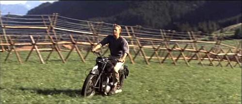 Escape en motocicleta