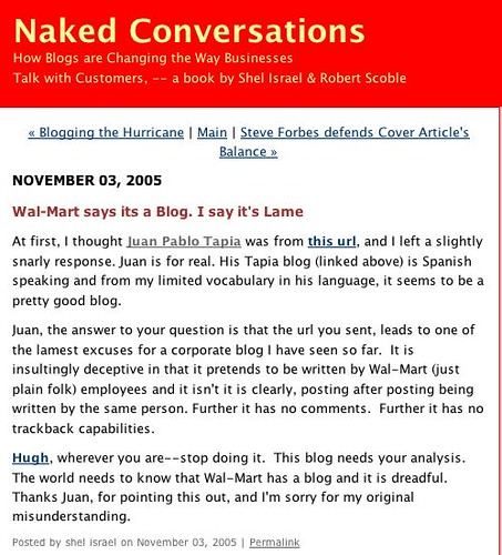 Blog Naked Conversations