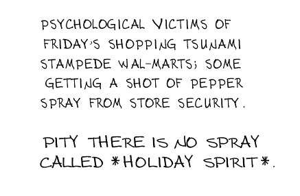 Victims of Black Friday's Shopping Tsunami Deserved the Peppering
