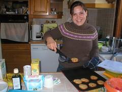 Kate baking cookies