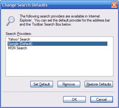 18 - search provider dialog