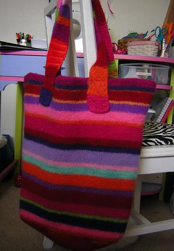 felted stash bag